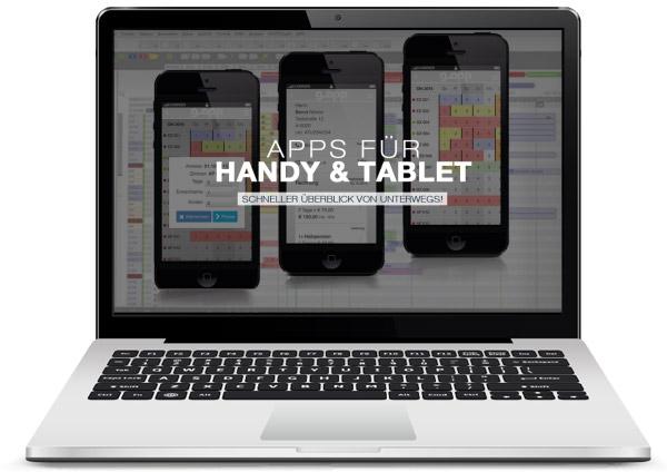 mit GASTROdat Hotelsoftware Apps für Handy & Tablet für einen schnellen Überblick von unterwegs