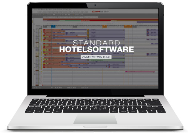 die GASTROdat Hotelsoftware Standard Version für ihre Zimmerverwaltung
