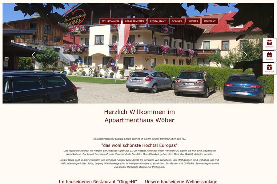 DynamicPages Referenz Appartementhaus Wöber