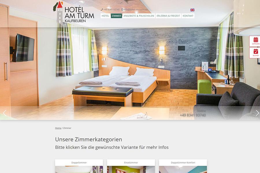 DynamicPages Referenz Hotel am Turm