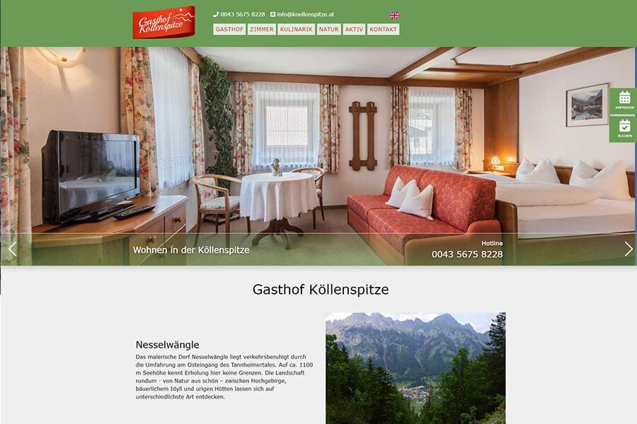 DynamicPages Referenz Gasthaus Köllenspitze
