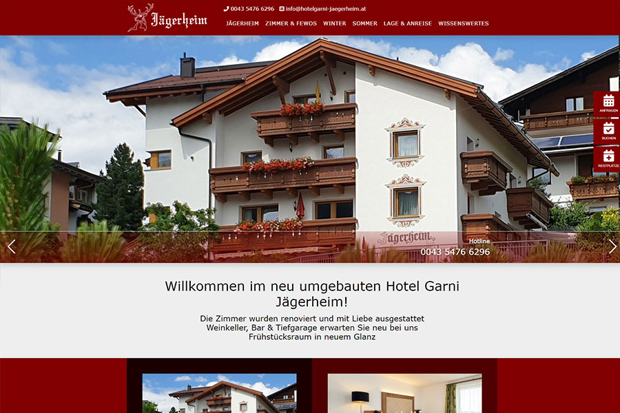 DynamicPages Referenz Hotel Garni Jägerheim