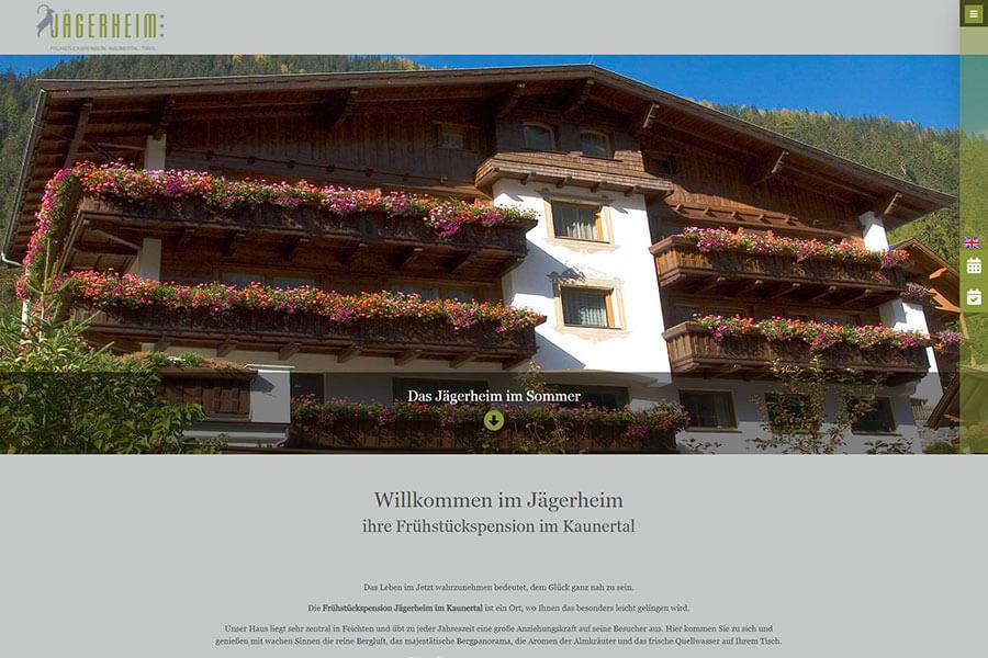 DynamicPages Referenz Frühstückspension Jägerheim